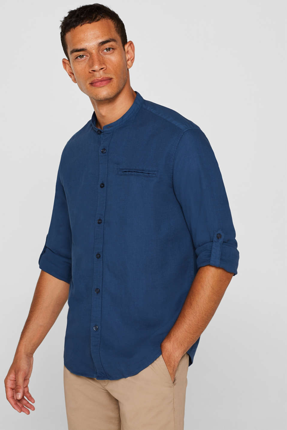 Woven shirt made from 100% cotton shirt