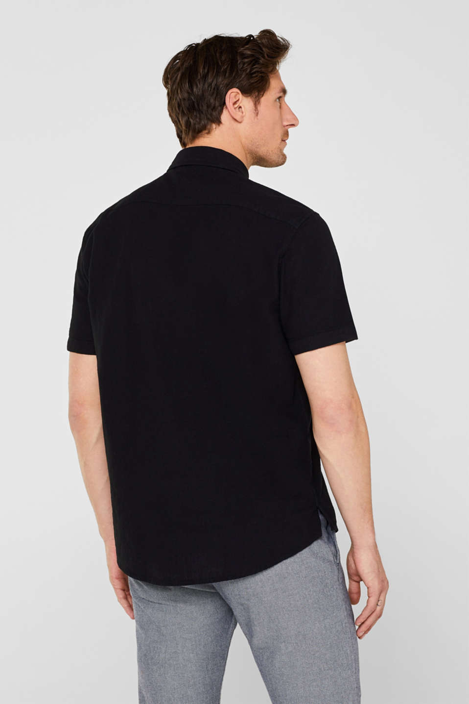 Shirts woven Regular fit, BLACK, detail image number 3