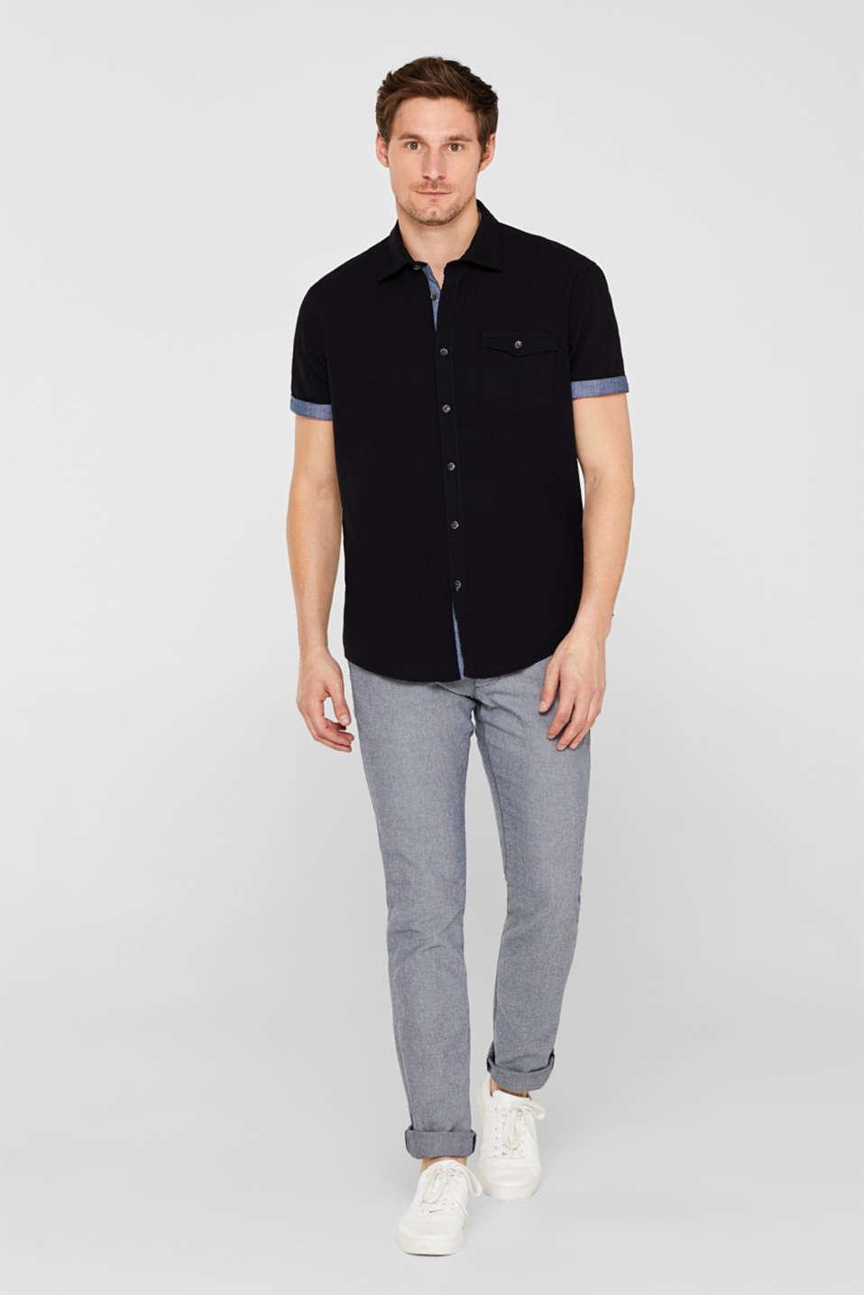 Shirts woven Regular fit, BLACK, detail image number 1