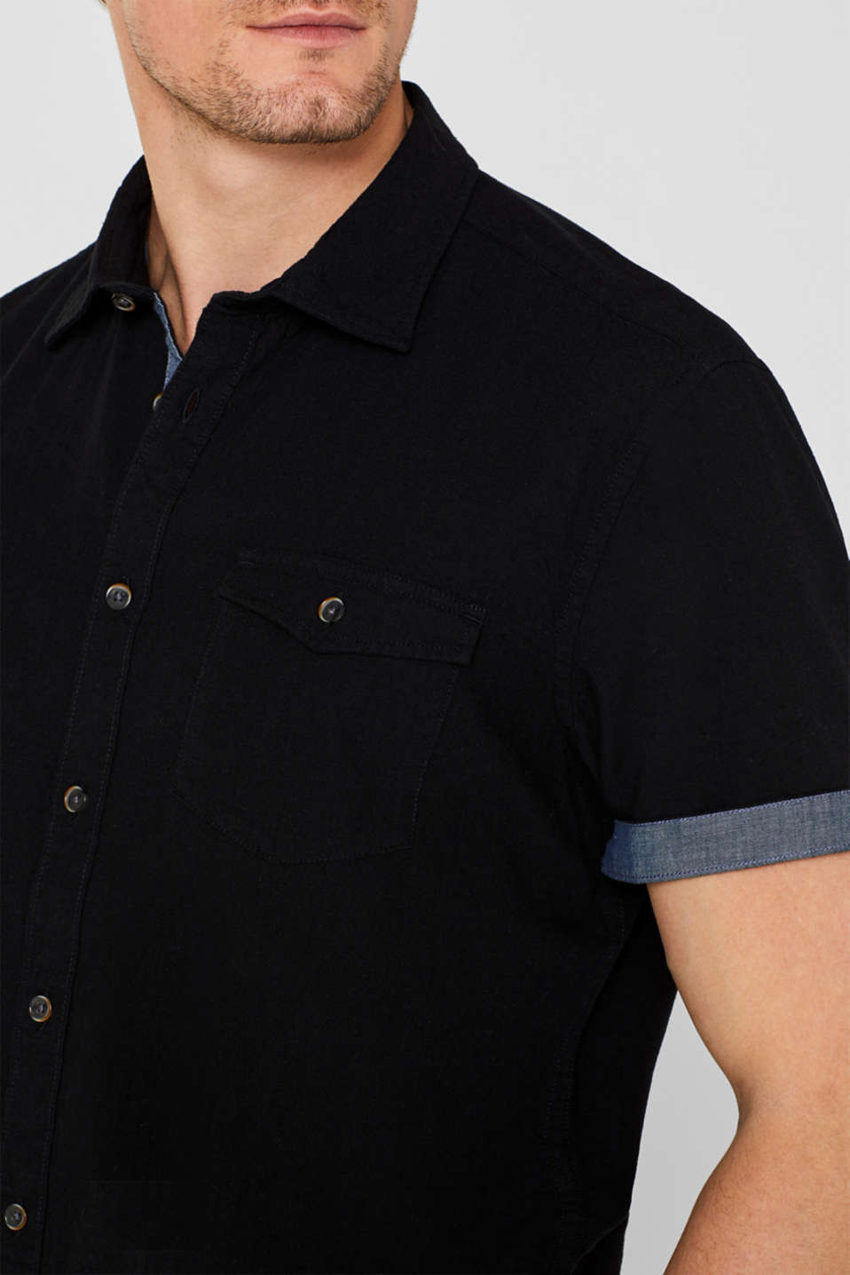 Shirts woven Regular fit, BLACK, detail image number 2