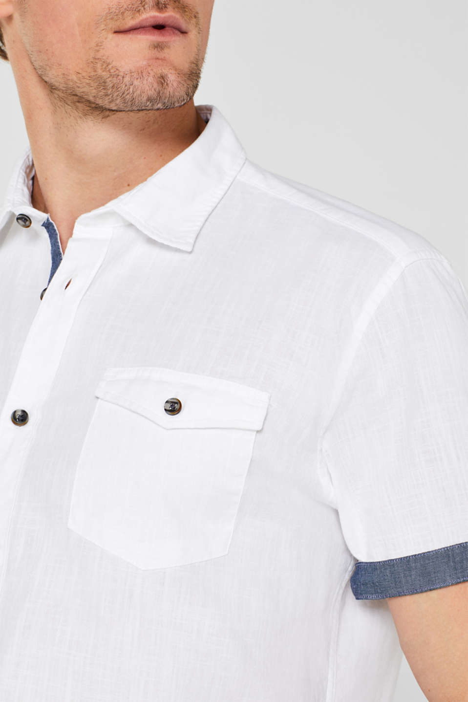 Shirts woven Regular fit, WHITE, detail image number 2