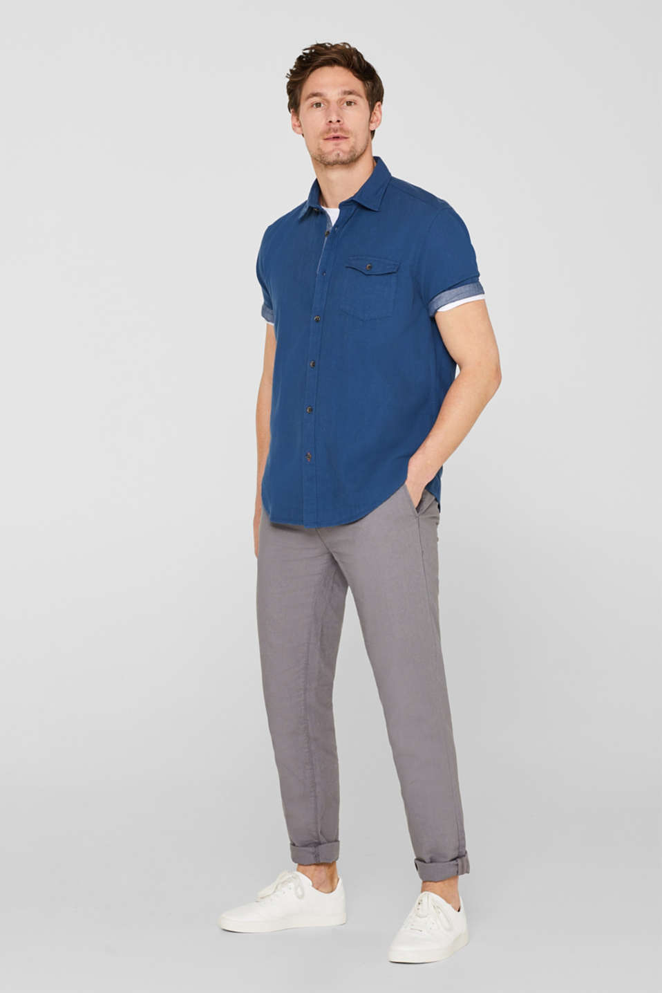 Shirts woven Regular fit, DARK BLUE, detail image number 1