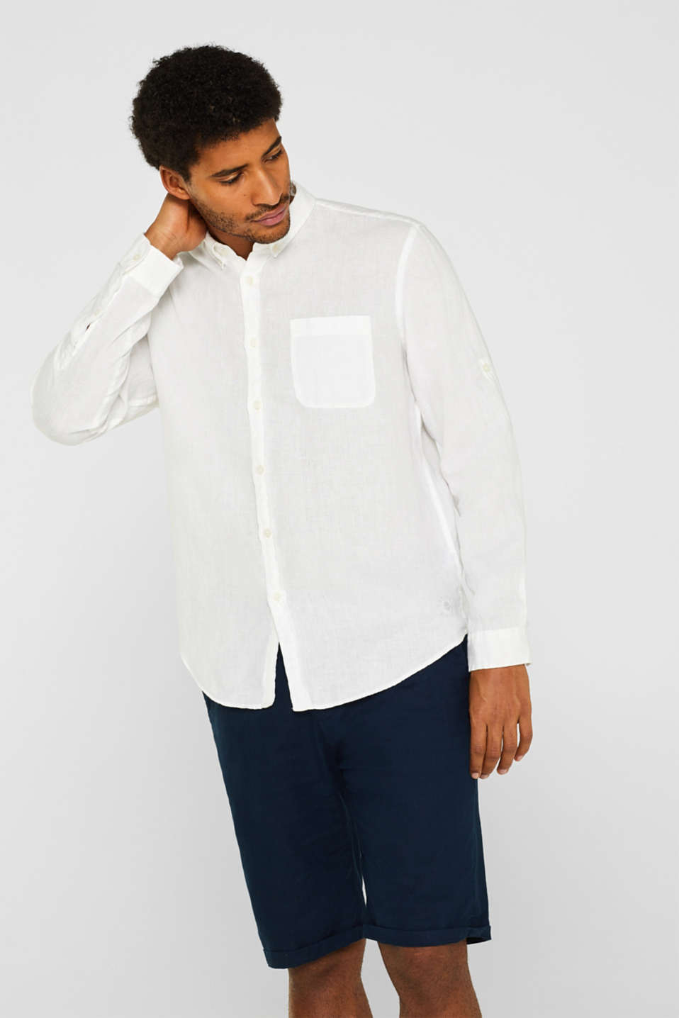 Shirts woven Regular fit, WHITE, detail image number 0