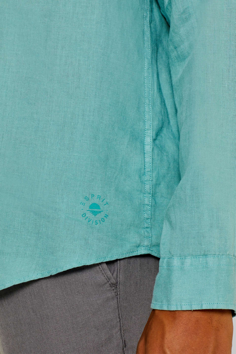Shirts woven Regular fit, DUSTY GREEN, detail image number 1