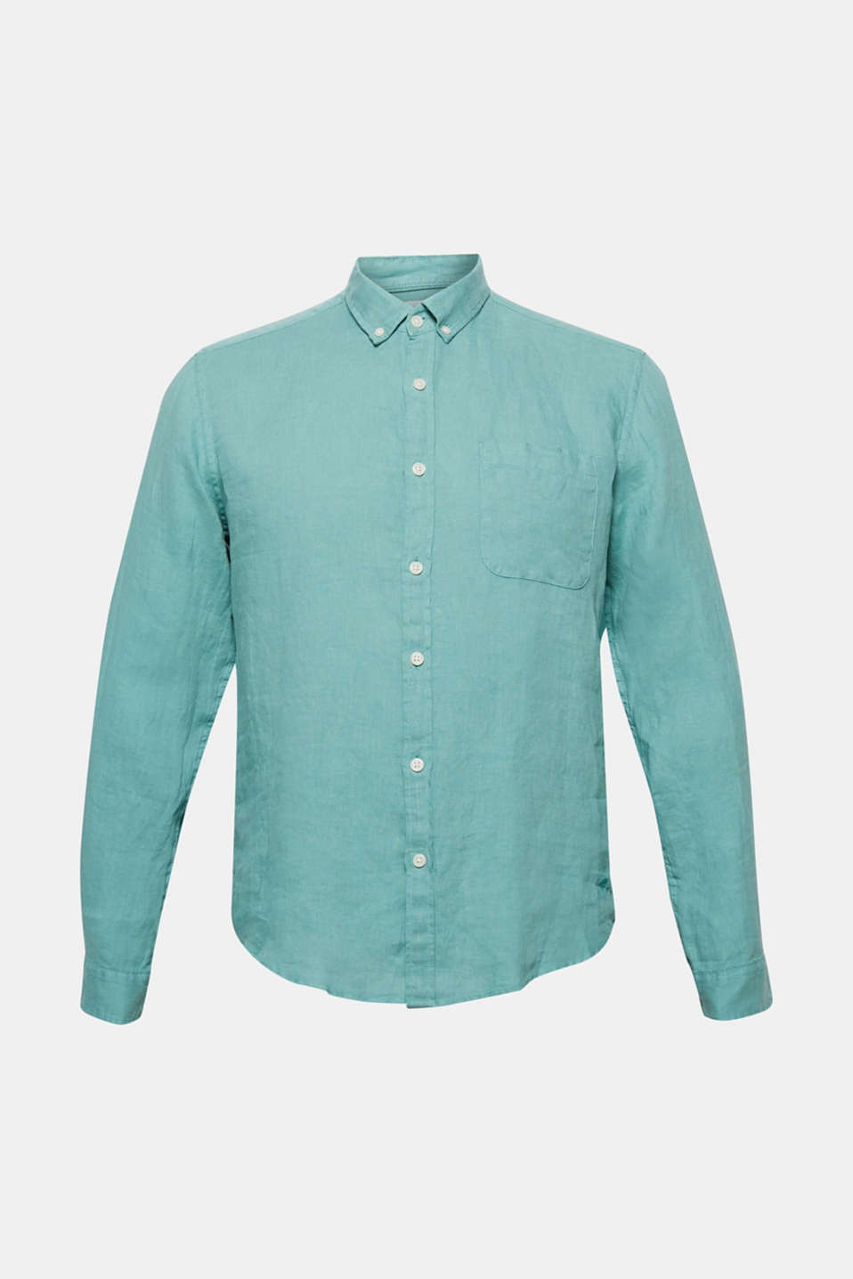 Shirts woven Regular fit, DUSTY GREEN, detail image number 3