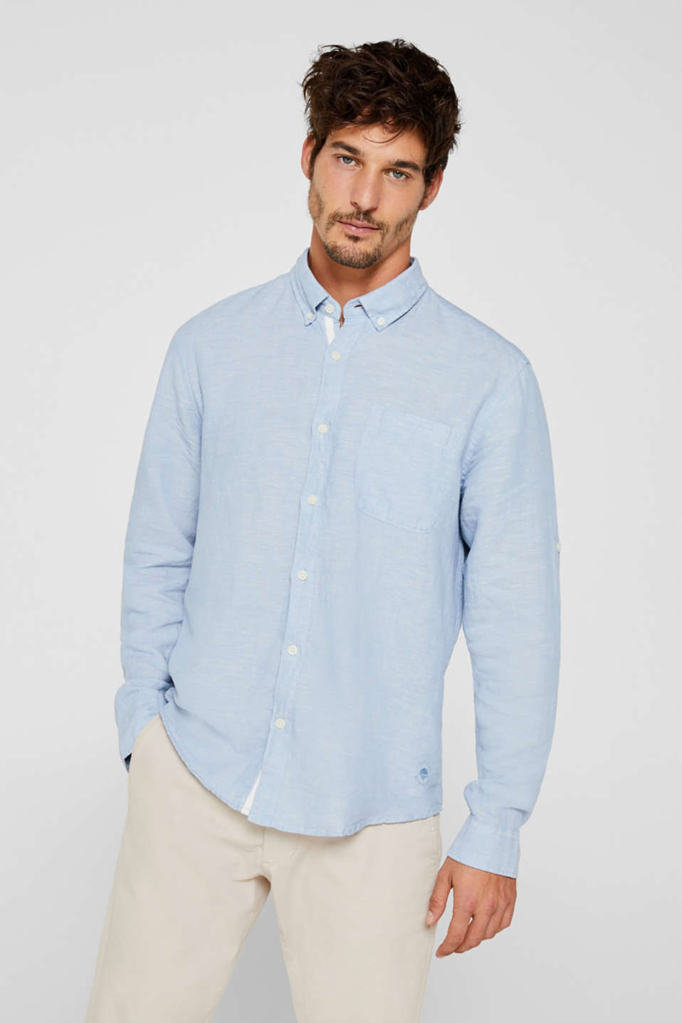 Shirts woven Regular fit, LIGHT BLUE, detail image number 0