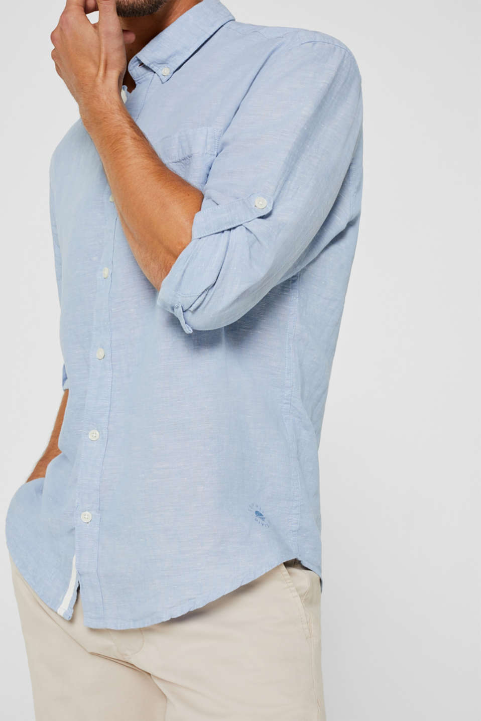 Shirts woven Regular fit, LIGHT BLUE, detail image number 2
