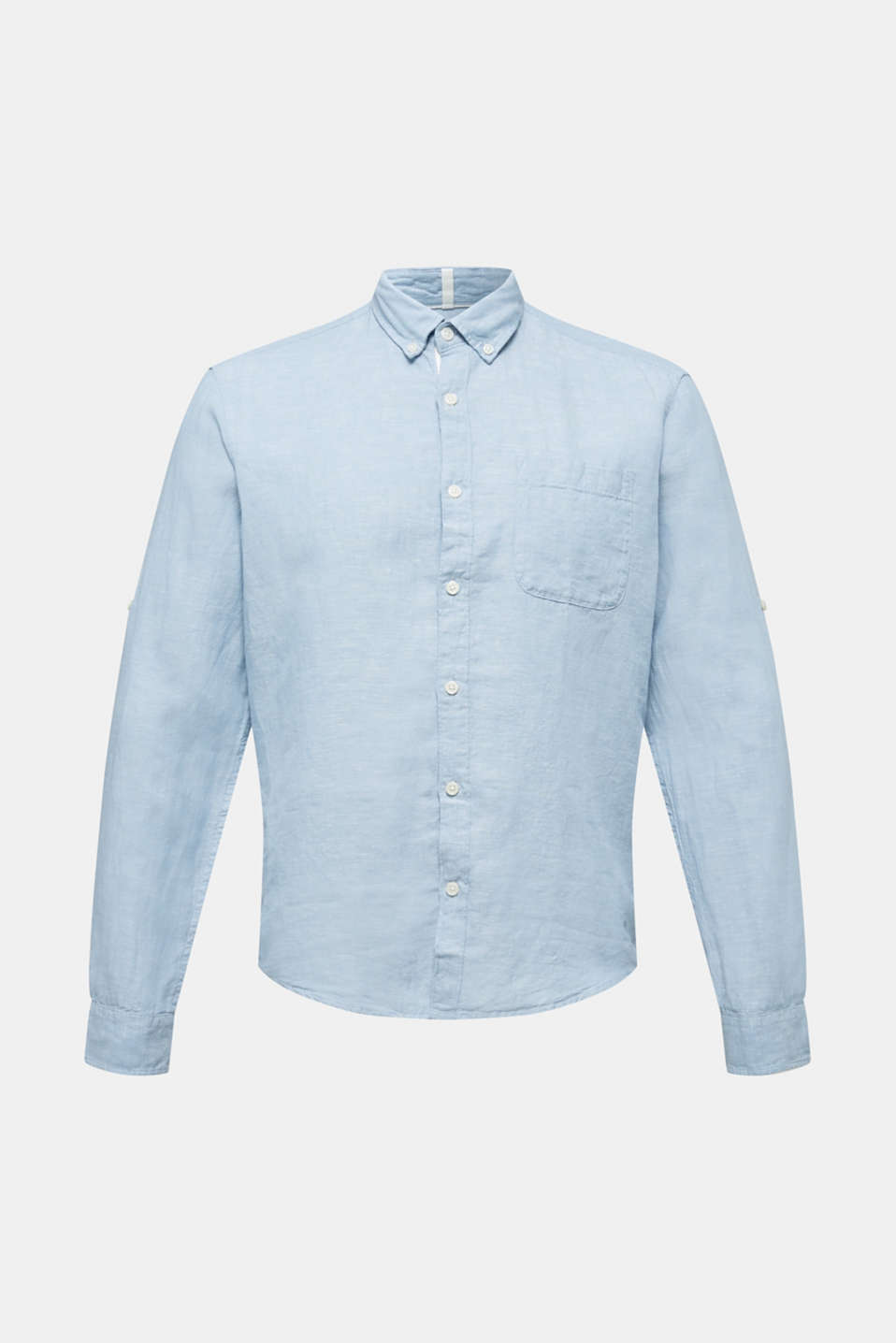 Shirts woven Regular fit, LIGHT BLUE, detail image number 5