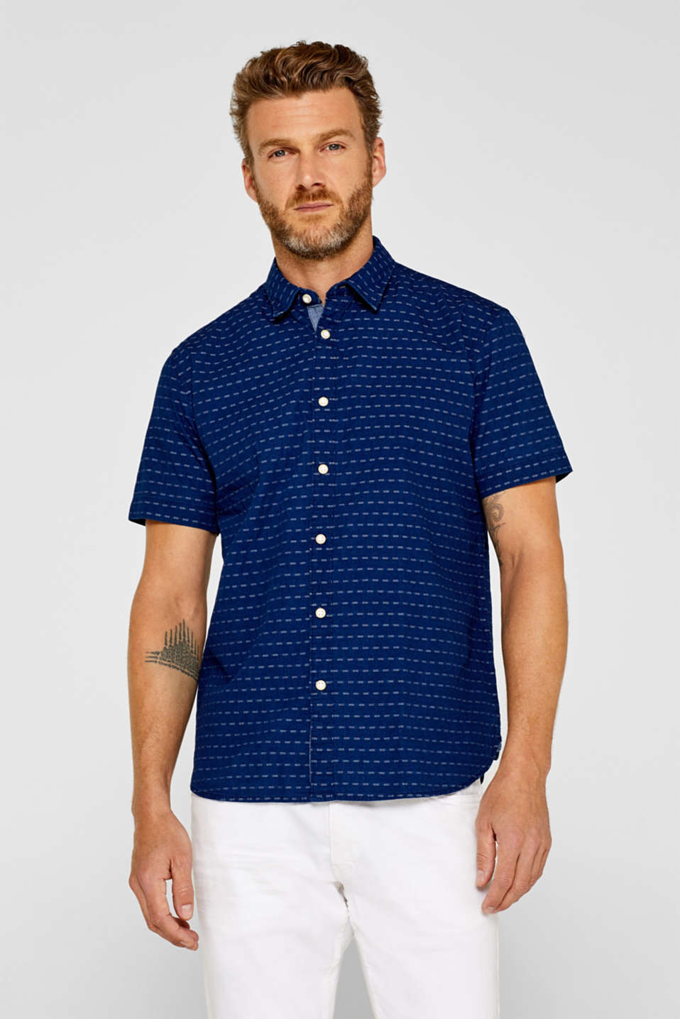 Esprit - short sleeve shirt in 100% cotton