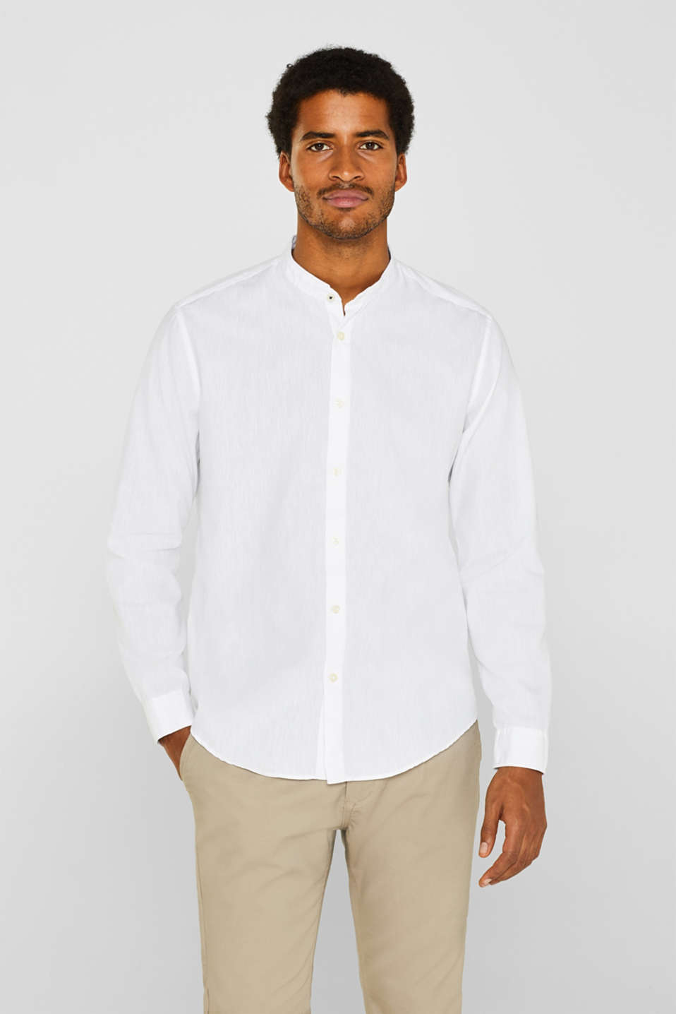Shirts woven Slim fit, WHITE, detail image number 0