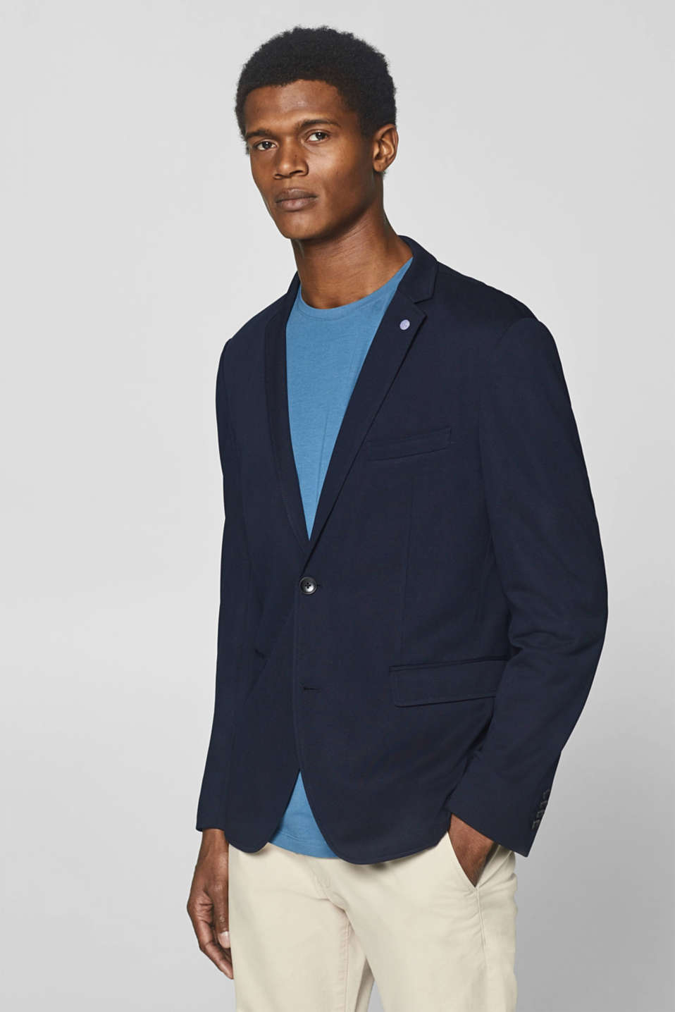 Esprit - Unlined men's blazer made of jersey