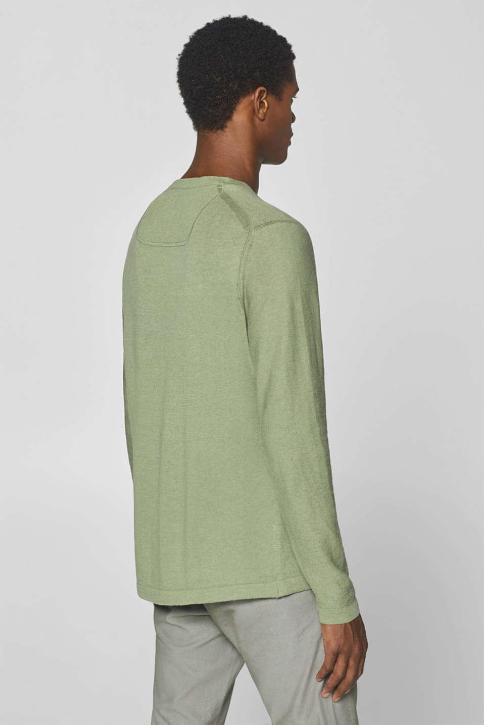 Sweaters, LIGHT KHAKI, detail image number 3