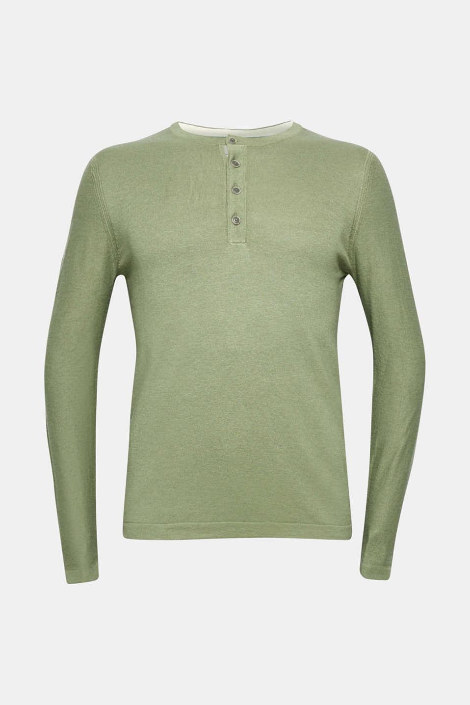 Sweaters, LIGHT KHAKI, detail image number 7