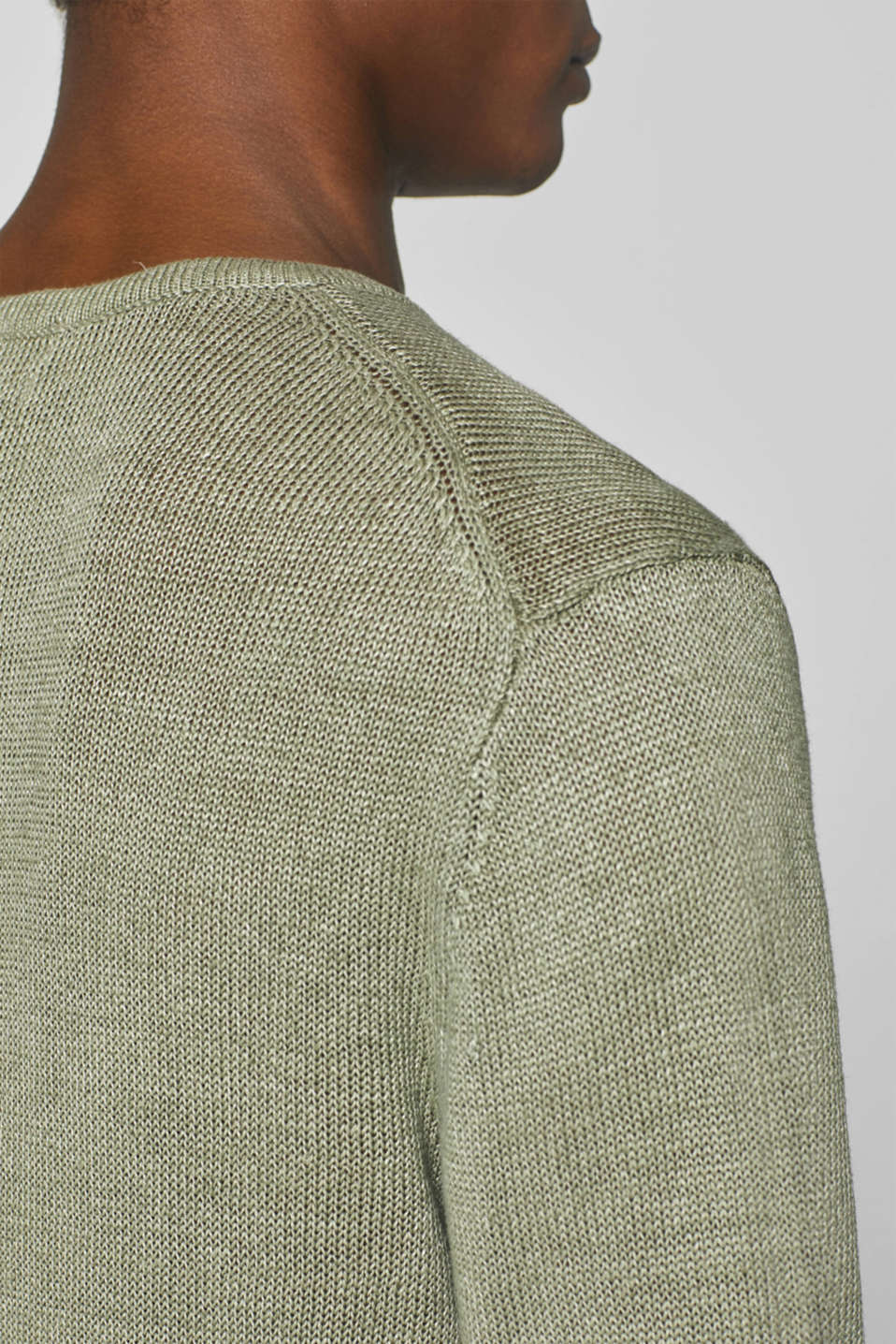 Sweaters, LIGHT KHAKI, detail image number 7