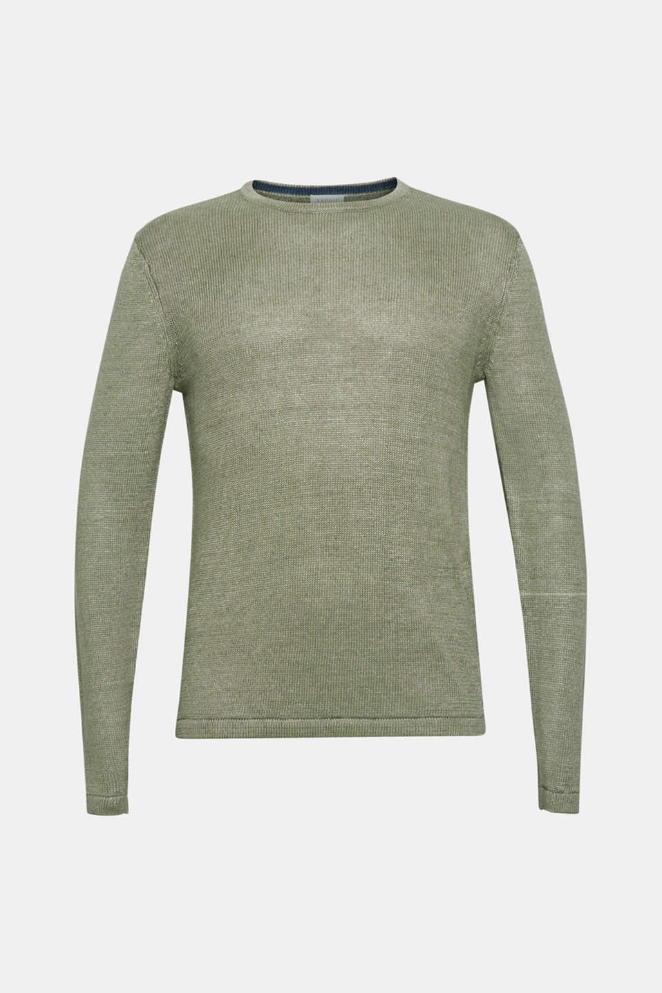 Sweaters, LIGHT KHAKI, detail image number 8