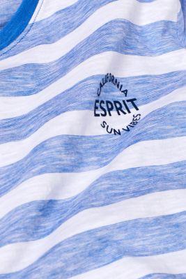 Slub jersey T-shirt with stripes, 100% cotton