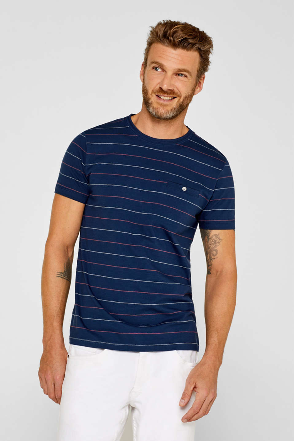 Esprit - 100% cotton jersey T-shirt with embroidery