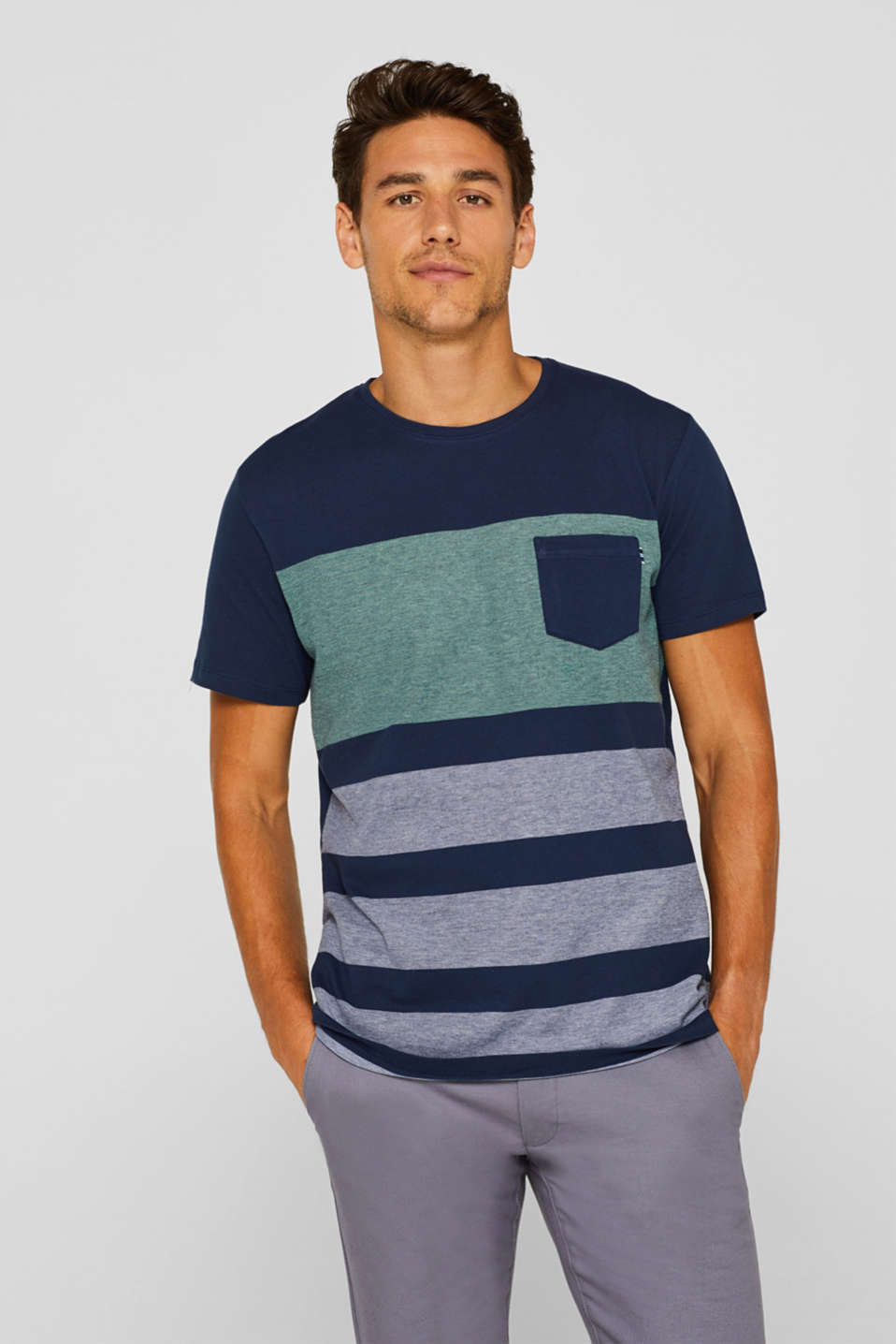 Esprit - Piqué T-shirt in 100% cotton