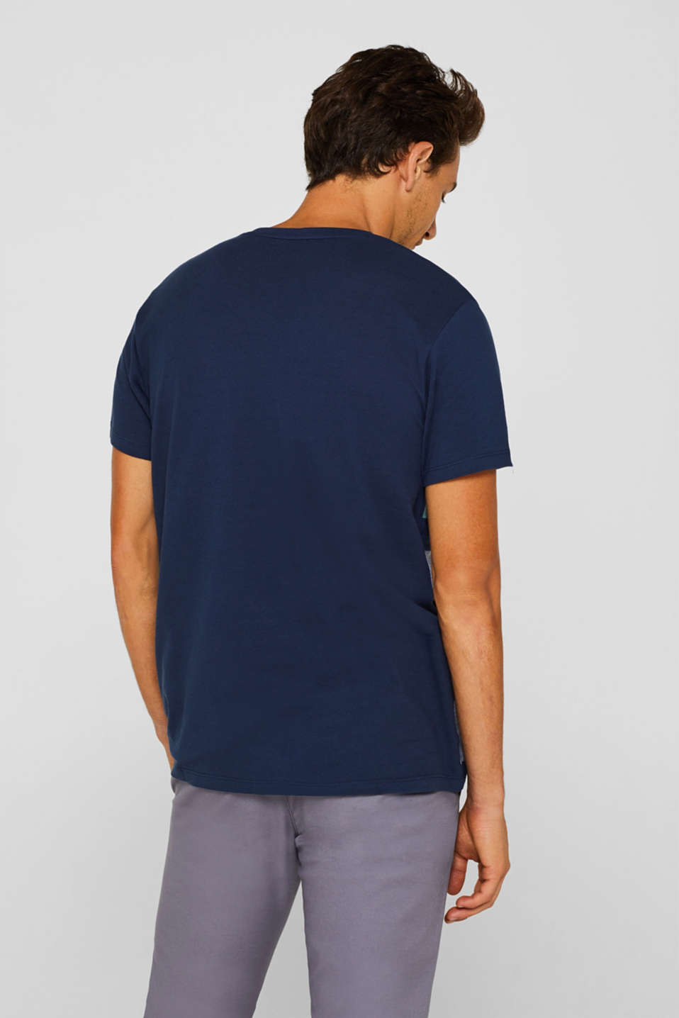 Piqué T-shirt in 100% cotton, NAVY, detail image number 3