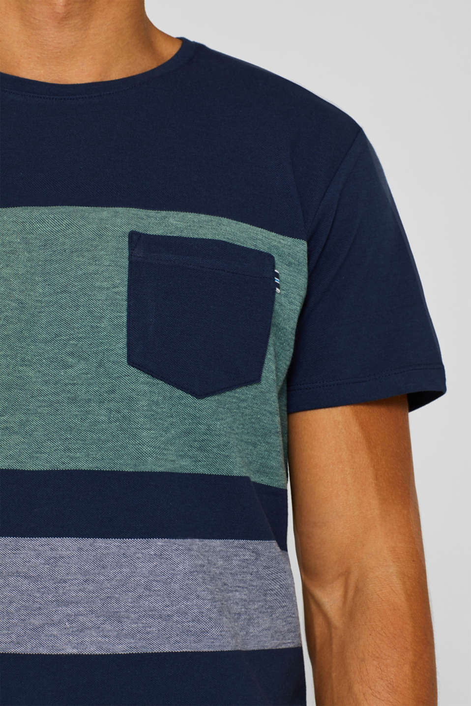 Piqué T-shirt in 100% cotton, NAVY, detail image number 1