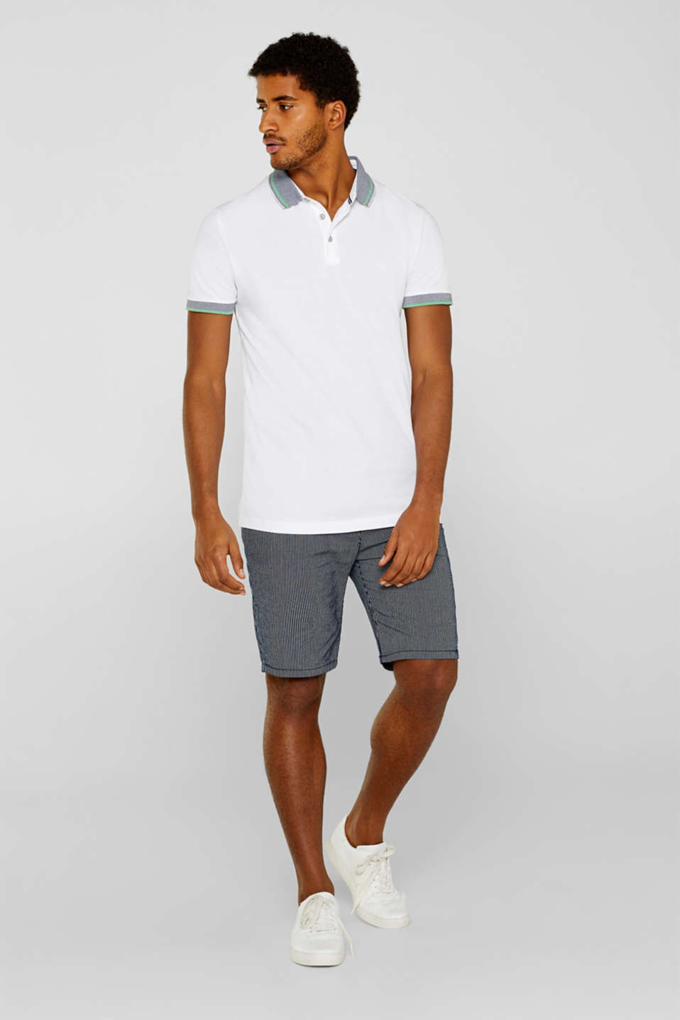 Polo shirts, WHITE, detail image number 4