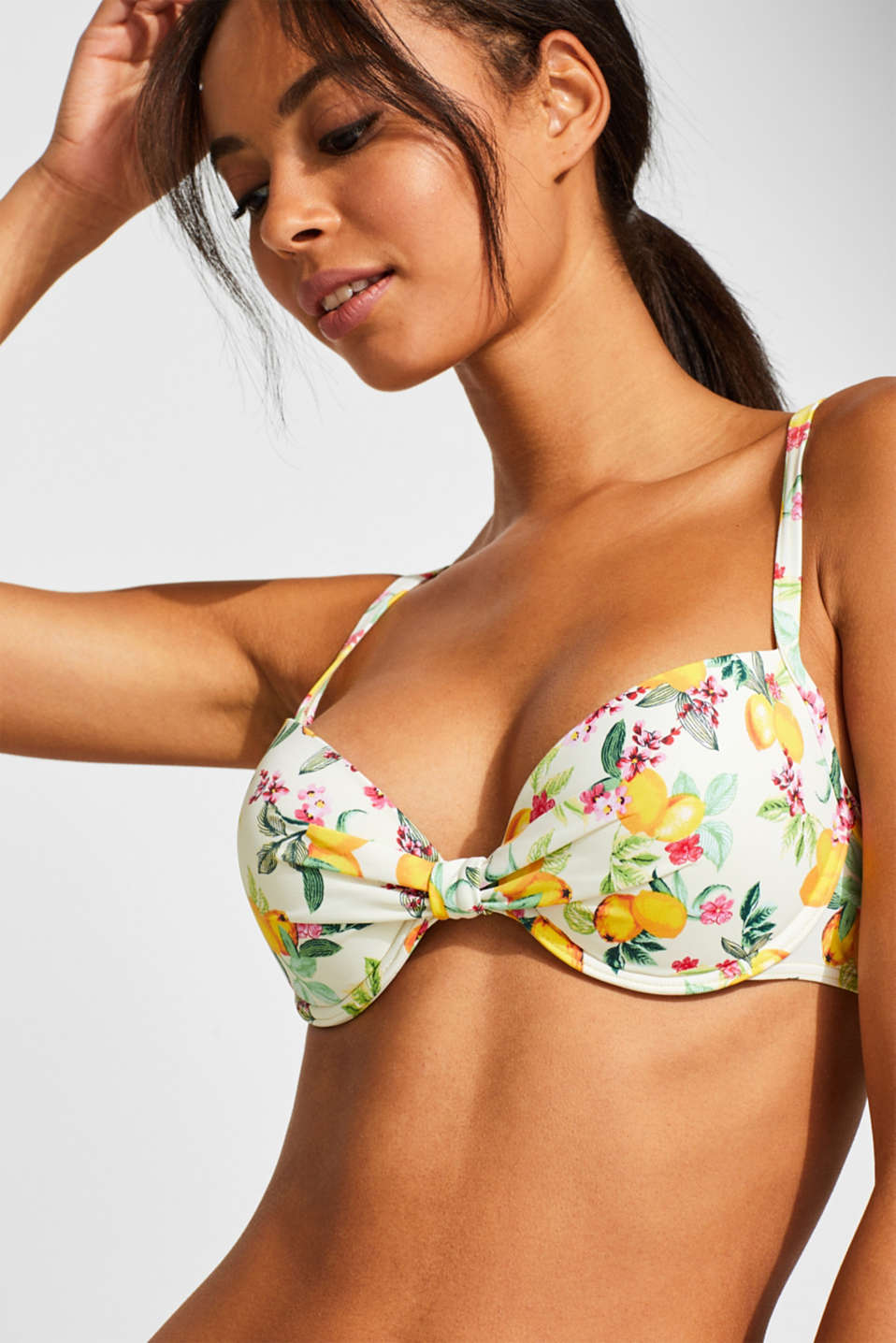 Beach Tops with wire, BRIGHT YELLOW, detail image number 2