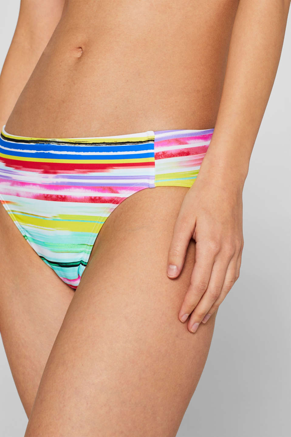 Midi briefs with neon stripes, PINK FUCHSIA, detail image number 1