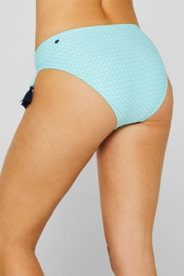 Midi briefs with a mini print and tassels, TURQUOISE, detail