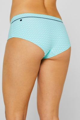 Hipster shorts with a print and piping