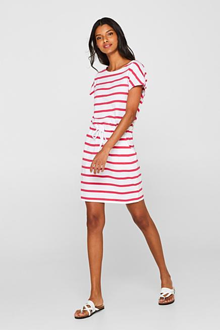 19c405224493e1 Jersey jurk met strepen