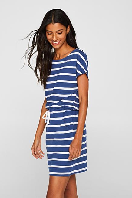 55a67aa3da6 Jersey dress with stripes