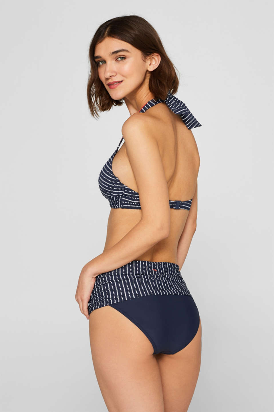 Shaping briefs with a wide turn-down waistband, NAVY, detail image number 2