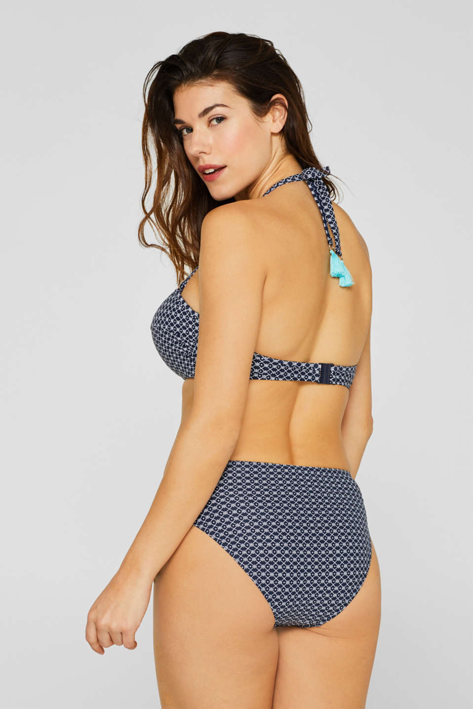 Padded bandeau top for large cup sizes, NAVY, detail image number 1