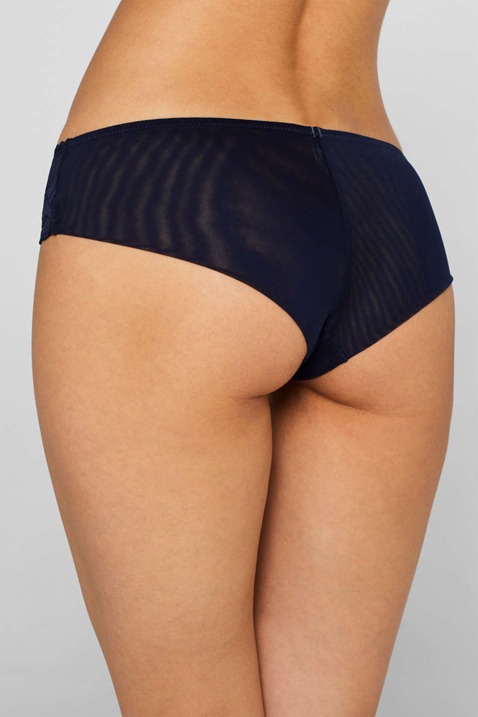 Brazilian hipster shorts in retro lace, NAVY, detail image number 3
