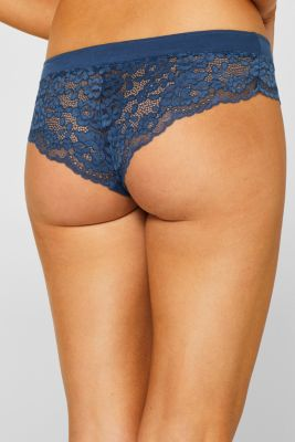 Brazilian hipster shorts in jersey and lace