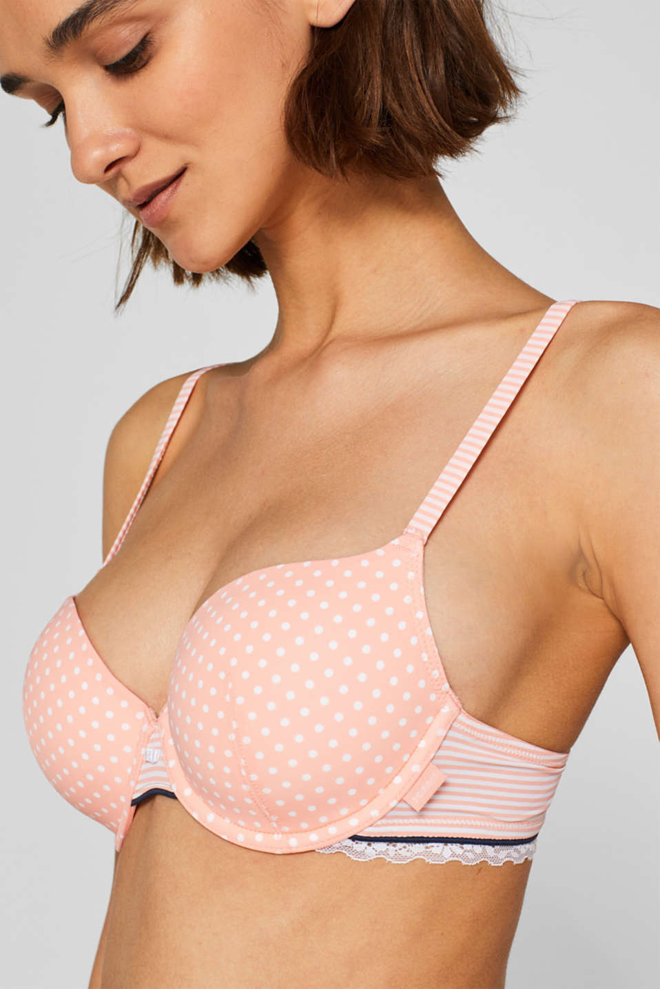 Bras with wire, CORAL RED, detail image number 2