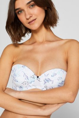 Padded underwire bra with detachable straps