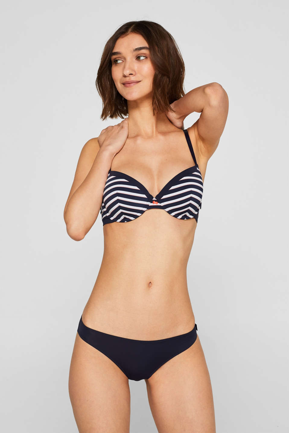 Esprit - Padded underwire bra with stripes