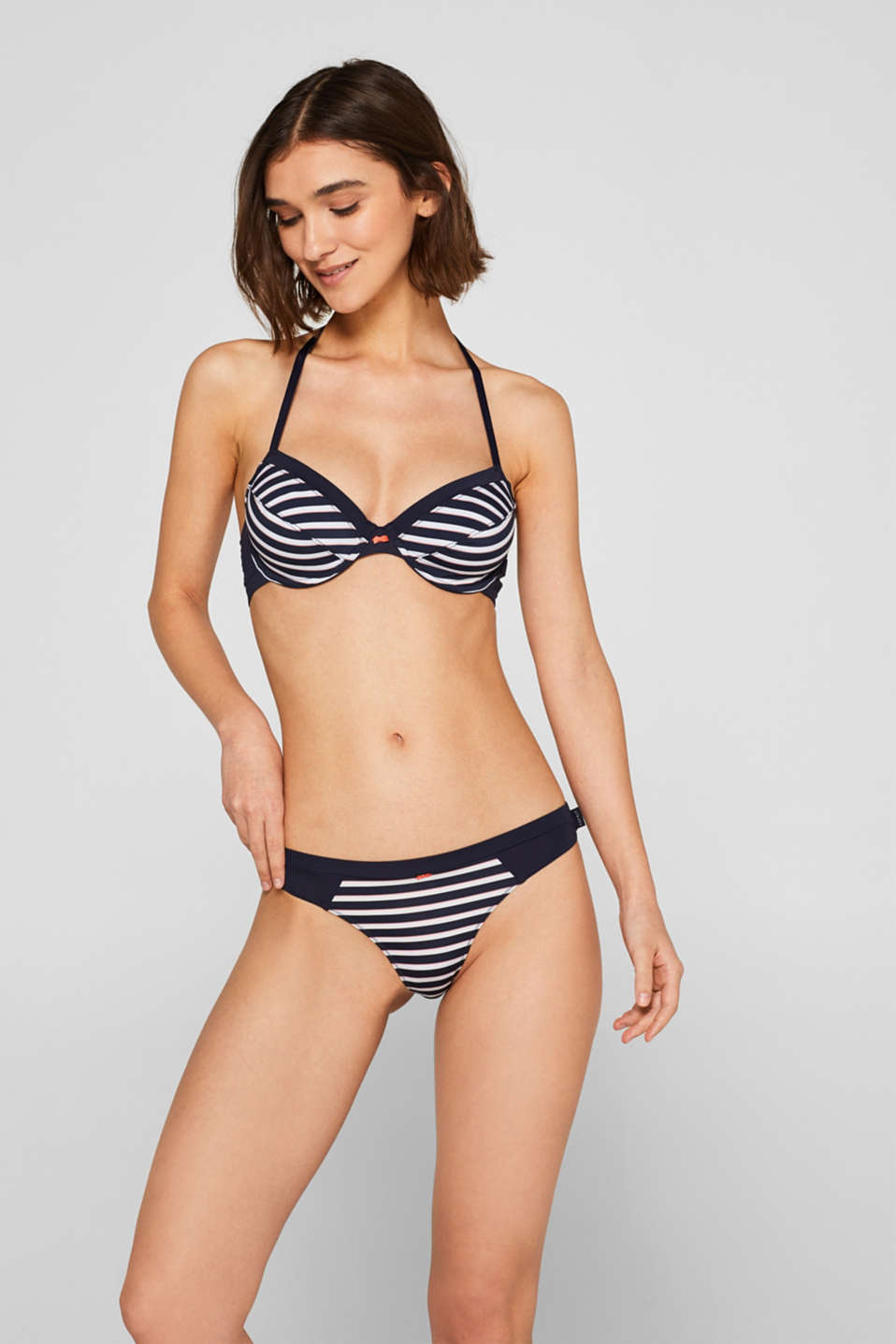 Esprit - Hipster thong with nautical stripes