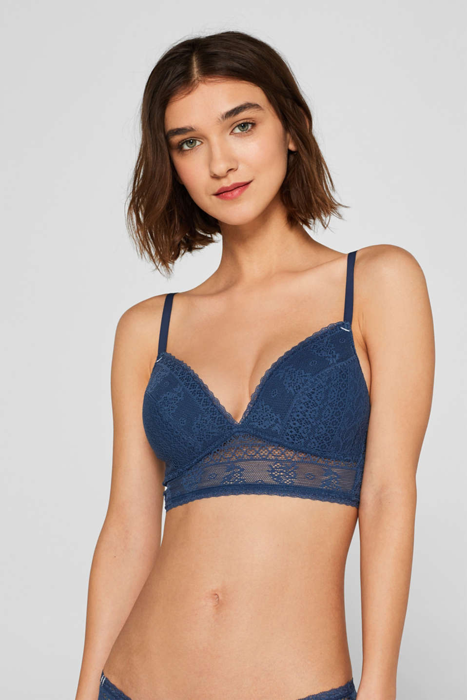 Esprit - Padded bra made of decorative crocheted lace