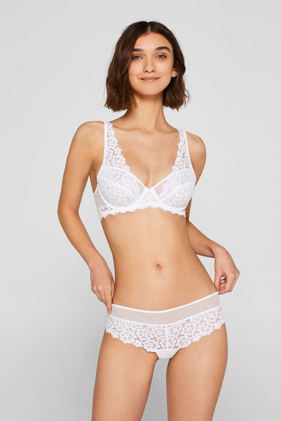 Esprit - Unpadded underwire bra in crocheted lace