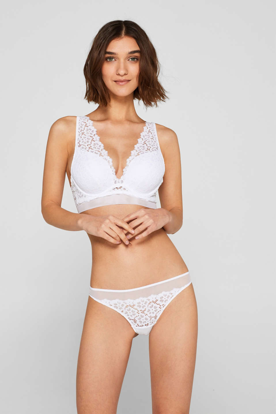 Esprit - Hipster briefs in lace and tulle