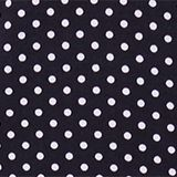 Stretch jersey top with two kinds of polka dots, NAVY, swatch