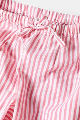 Pyjamas with a print and stripes, 100% cotton