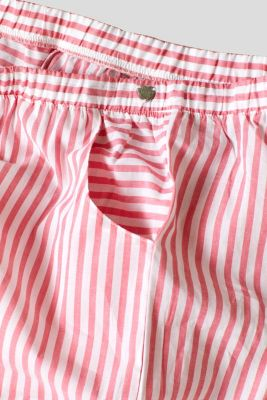 Woven trousers with stripes, 100% cotton