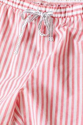 Striped shorts, 100% cotton