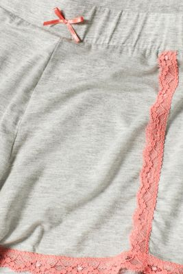 Jersey shorts with neon lace