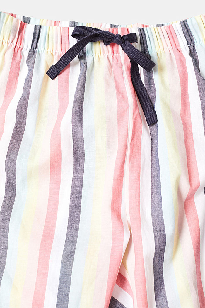 Fabric capris with stripes, 100% cotton, CORAL, detail image number 2