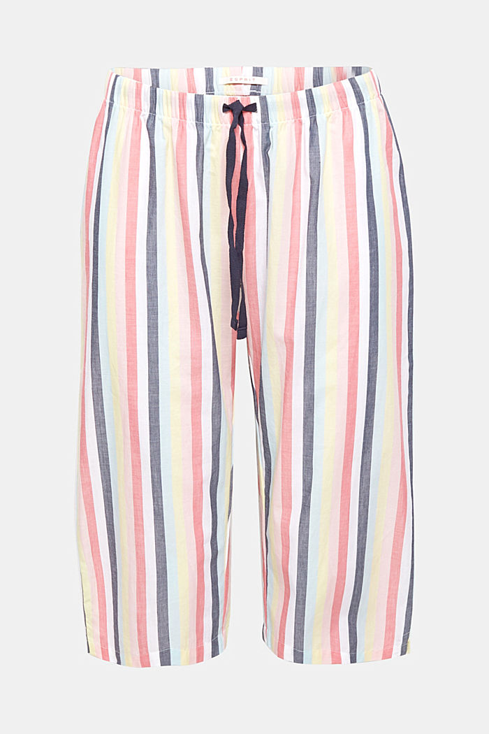 Fabric capris with stripes, 100% cotton, CORAL, detail image number 3