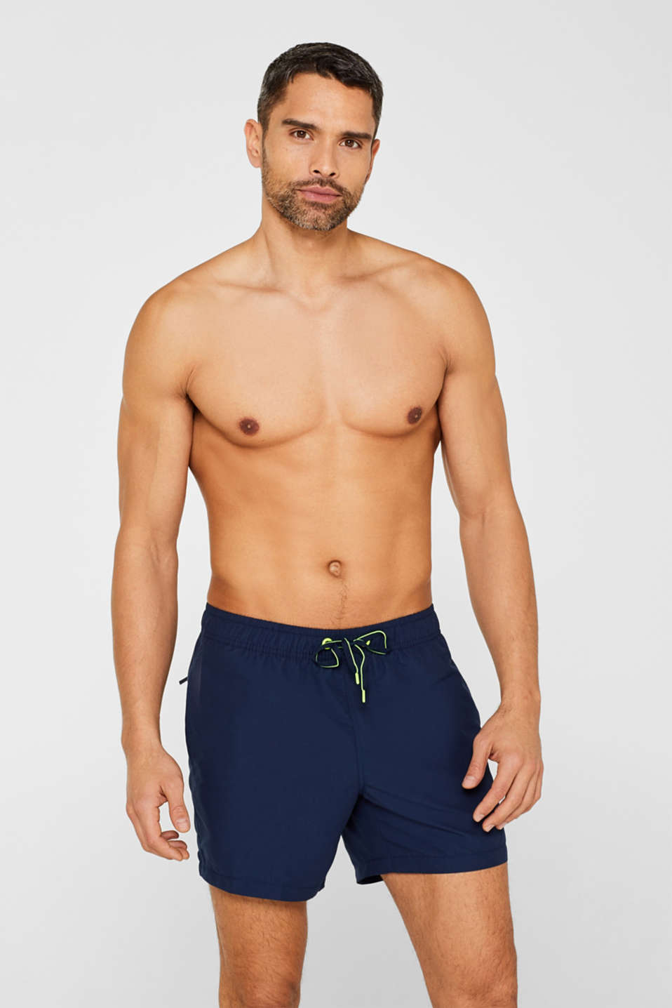 Esprit - Sporty swim shorts with neon accents